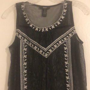 Alfani Black sheer sleeveless blouse